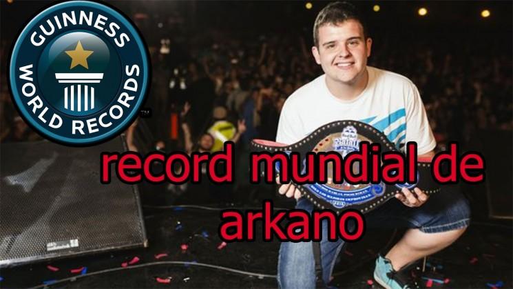 Récord mundial de rap con Arkano