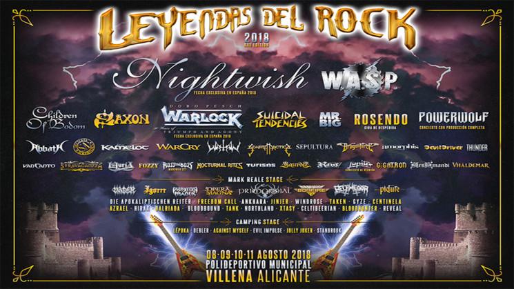VUELVE EL LEYENDAS DEL ROCK 2018