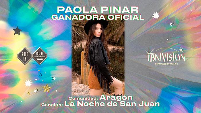 Paola Pinar, ganadora de la primera edición de IBAIVISIÓN