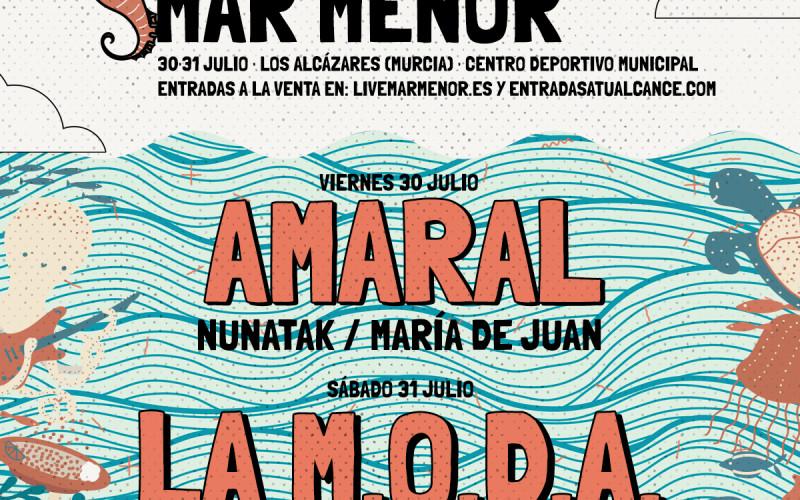 LIVE MAR MENOR ANUNCIA A AMARAL Y A JACK BISONTE, COMPLETANDO ASÍ EL CARTEL DEL 30 Y 31 DE JULIO EN LOS ALCÁZARES